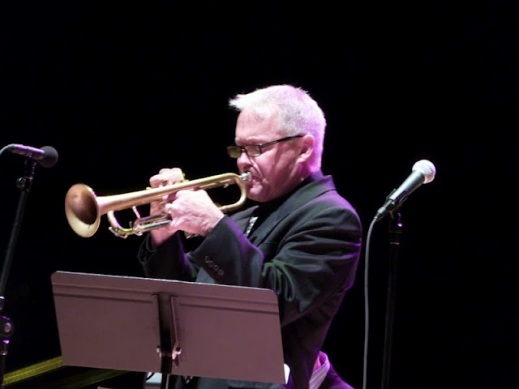Eastman School of Music faculty member Clay Jenkins performs at a free Jazz concert at Eastman Hall