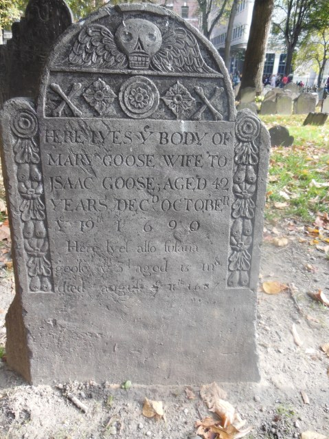 is this grave the final resting place of the woman who was known as Mother Goose?