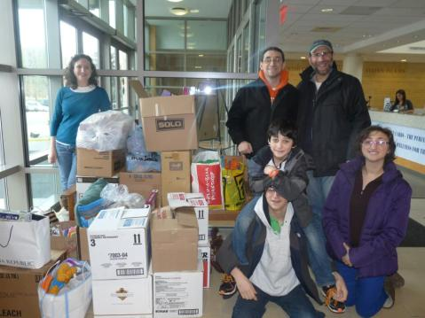 from Rochester to Staten Island, all the donations made it down safely.