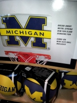 Michigan Wolverine fever is everywhere, as shown at a Novi Dick's sporting goods store