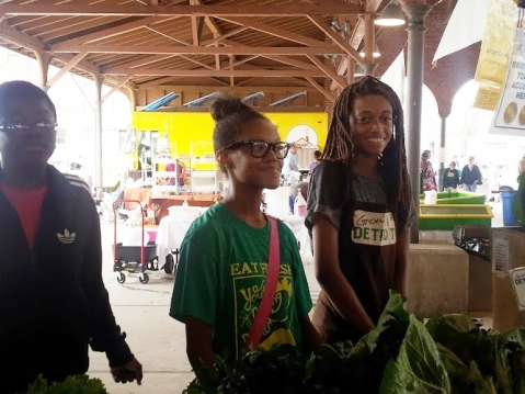 why go downtown? Because I still believe there is hope for the kids downtown. Look at these cute faces waiting to greet you and sell the produce they have grown to you, right downtown in  Detroit's Eastern Market.