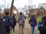 along the campus tour