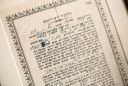 The Ketubah, or marriage contract, between Henry and Dora, signed in the Warsaw Ghetto, still survives