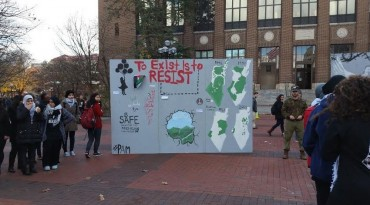 It is not easy to be Jewish or pro-Israel on today's North American college campus. This misleading, hate-filled sign put up by student activists who aim to do nothing more than demonize and delegitimize Israel's very existence has become a cancer on the collegiate scene.